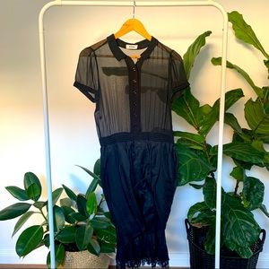 🖤 MOSCHINO vintage black chiffon silk dress 🖤